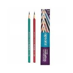 Apsara Triangle Mettalic Pencils (Pack of 4 Pkt.) (2096792)