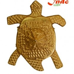 Indo Golden Polished Meru Turtle (Tortoise) in metal