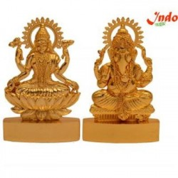 Indo Shree Ganesh And Laxmi In Made Of Metal